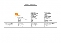 menu AVRIL