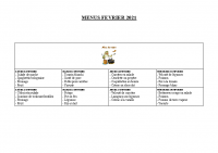 menu FEVRIER