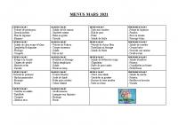 menu MARS